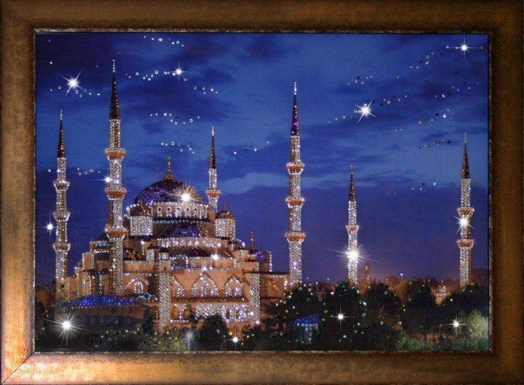Яркие и необычные картины Сваровски ...: olpi.ru/product/kartina-swarovski-sinyaya-mechet-1514-gf