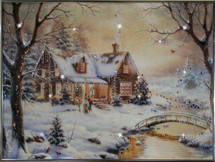 Картины зимняя сказка своими руками