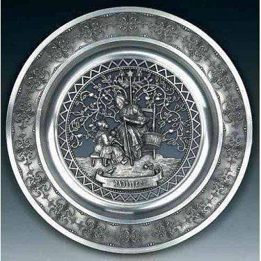 Оловянная тарелка