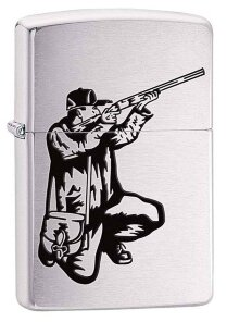 Зажигалка ZIPPO 200 VECTOR RIFLE AND HUNT-gr