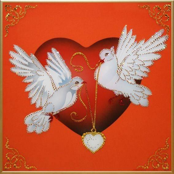 Открытка голуби и сердце, необычных открыток картинки